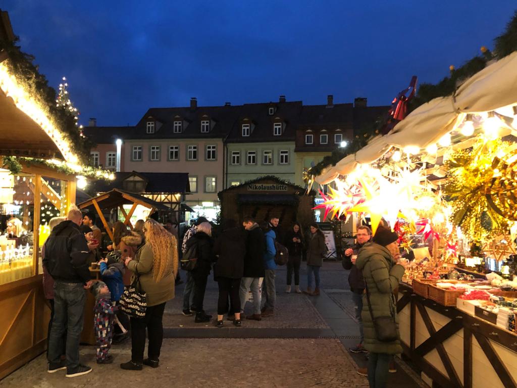 Bamberg Weihnachtsmarkt.Weihnachtszeit In Bamberg Weihnachtsmärkte Krippenweg Und